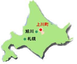 北海道 道北 上川町の地図