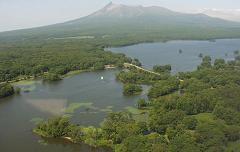 北海道絶景スポット 大沼と小沼と駒ケ岳
